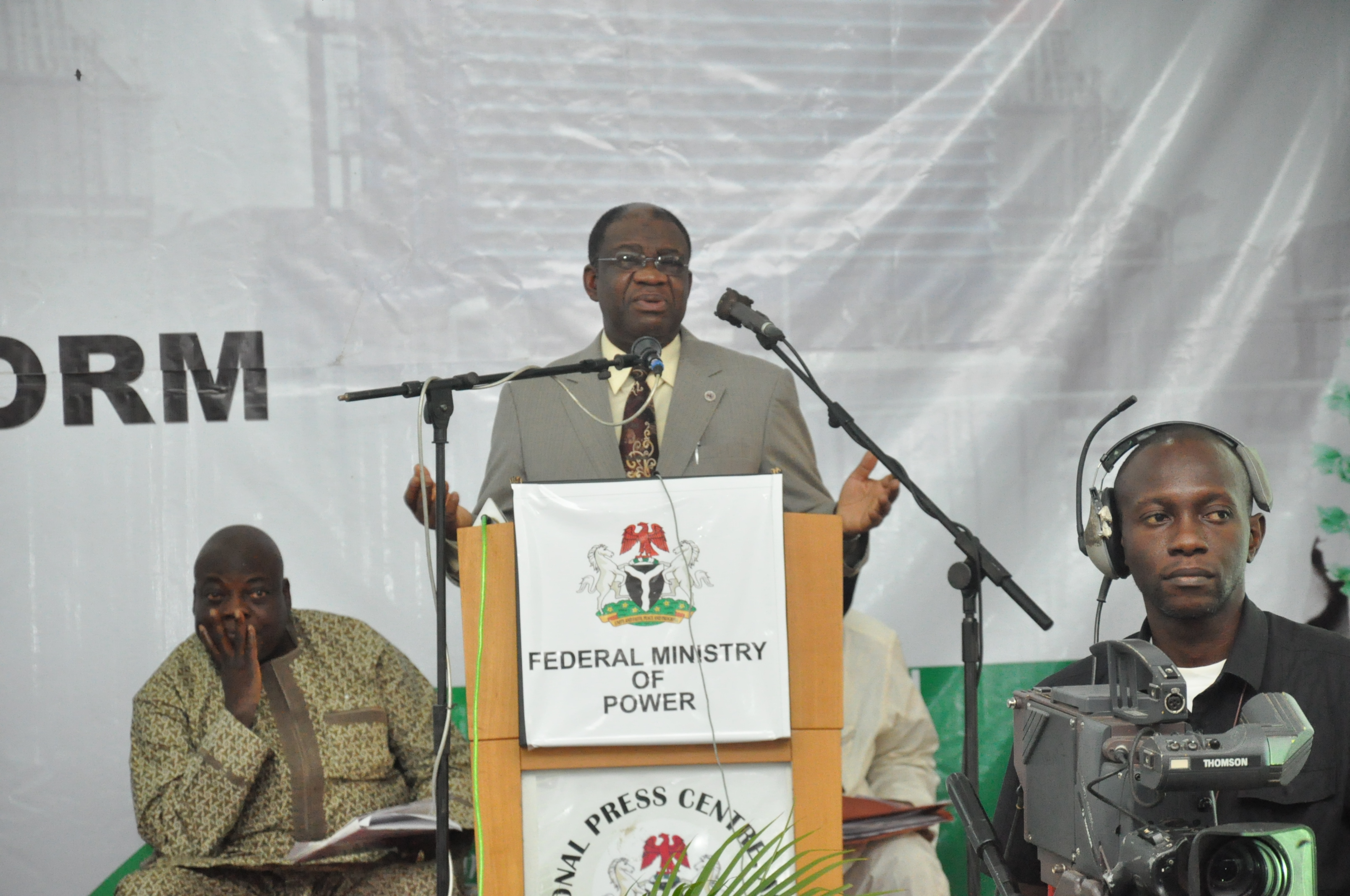 Minister of Power, Prof Chinedu Nebo During the Ministerial Platform